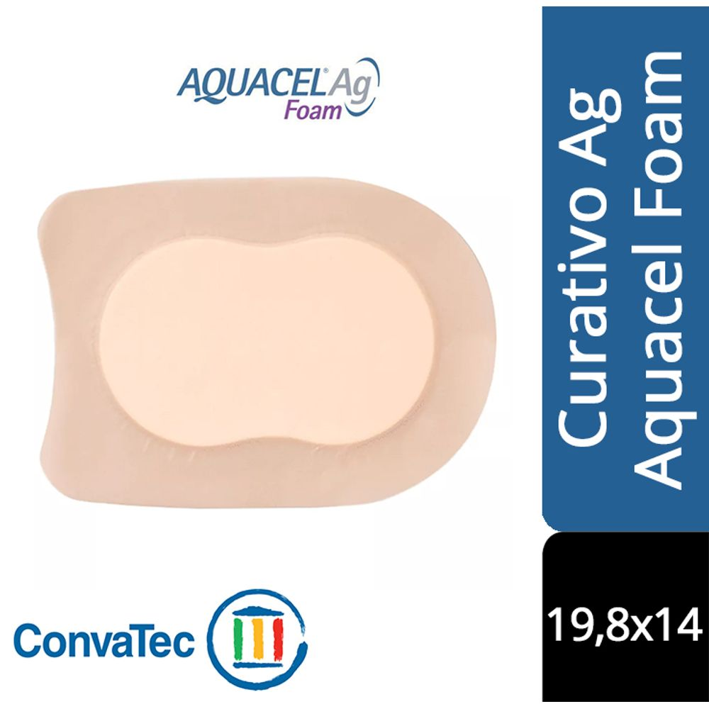 CURATIVO AQUACEL AG FOAM CALCANEO 19,8 X 14 UND 420647 - CONVATEC