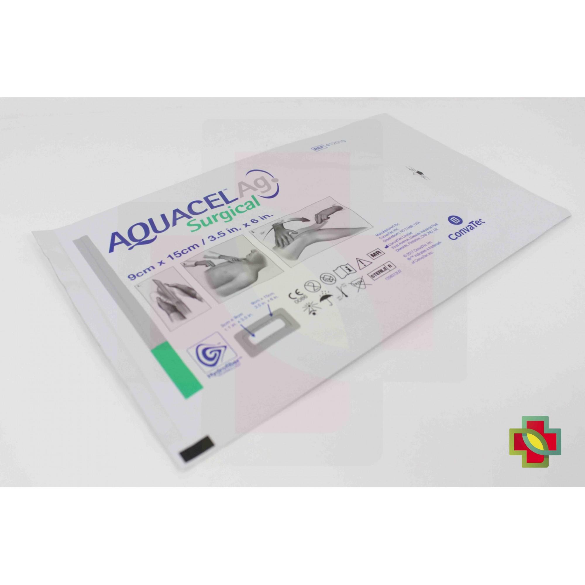 CURATIVO AQUACEL AG SURGICAL 09 X 15 UND. 412010 CONVATEC