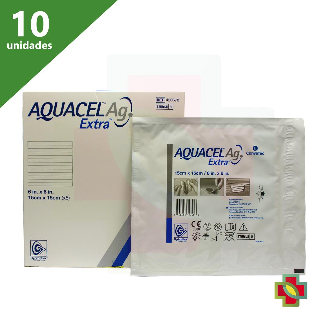 CURATIVO AQUACEL EXTRA AG 15 X 15 CM (CX C/ 10 UND.)  420678 - CONVATEC