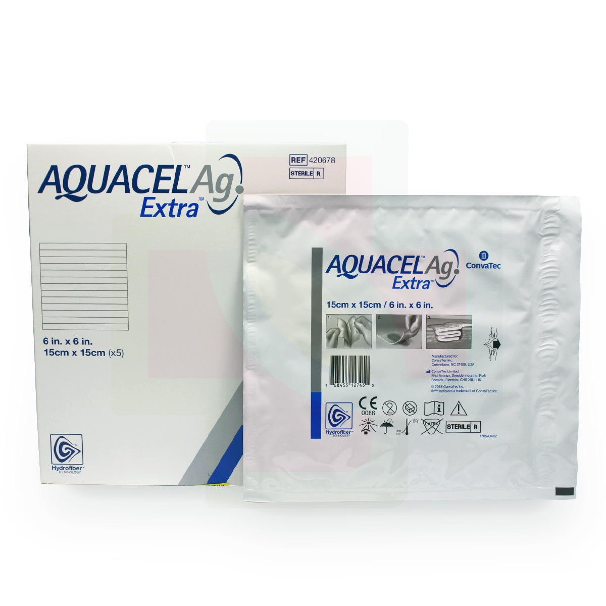 CURATIVO AQUACEL EXTRA AG 15 X 15 CM UND. 420678 - CONVATEC