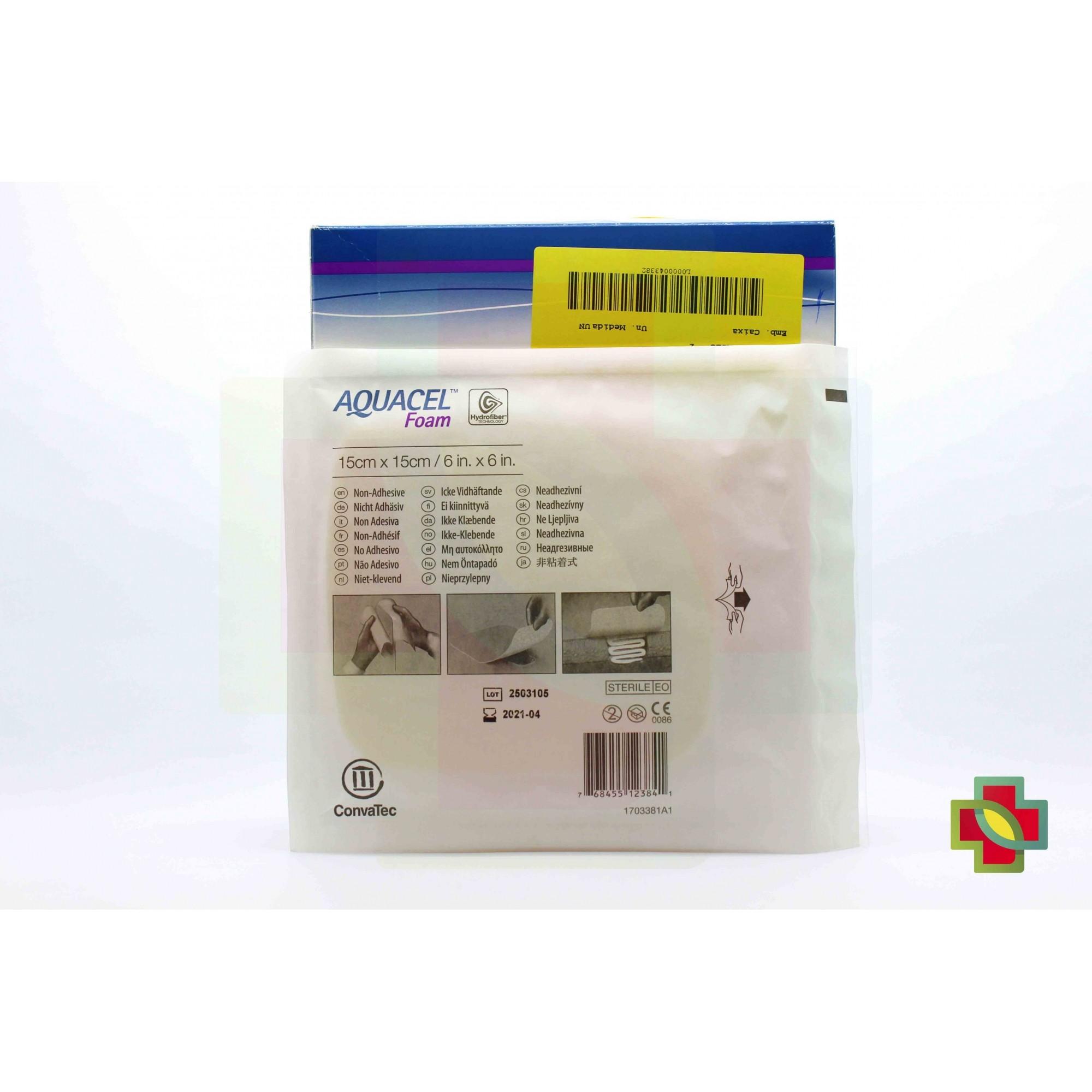 CURATIVO AQUACEL FOAM SEM ADESIVO 15 X 15 CM UND. 420635 - CONVATEC