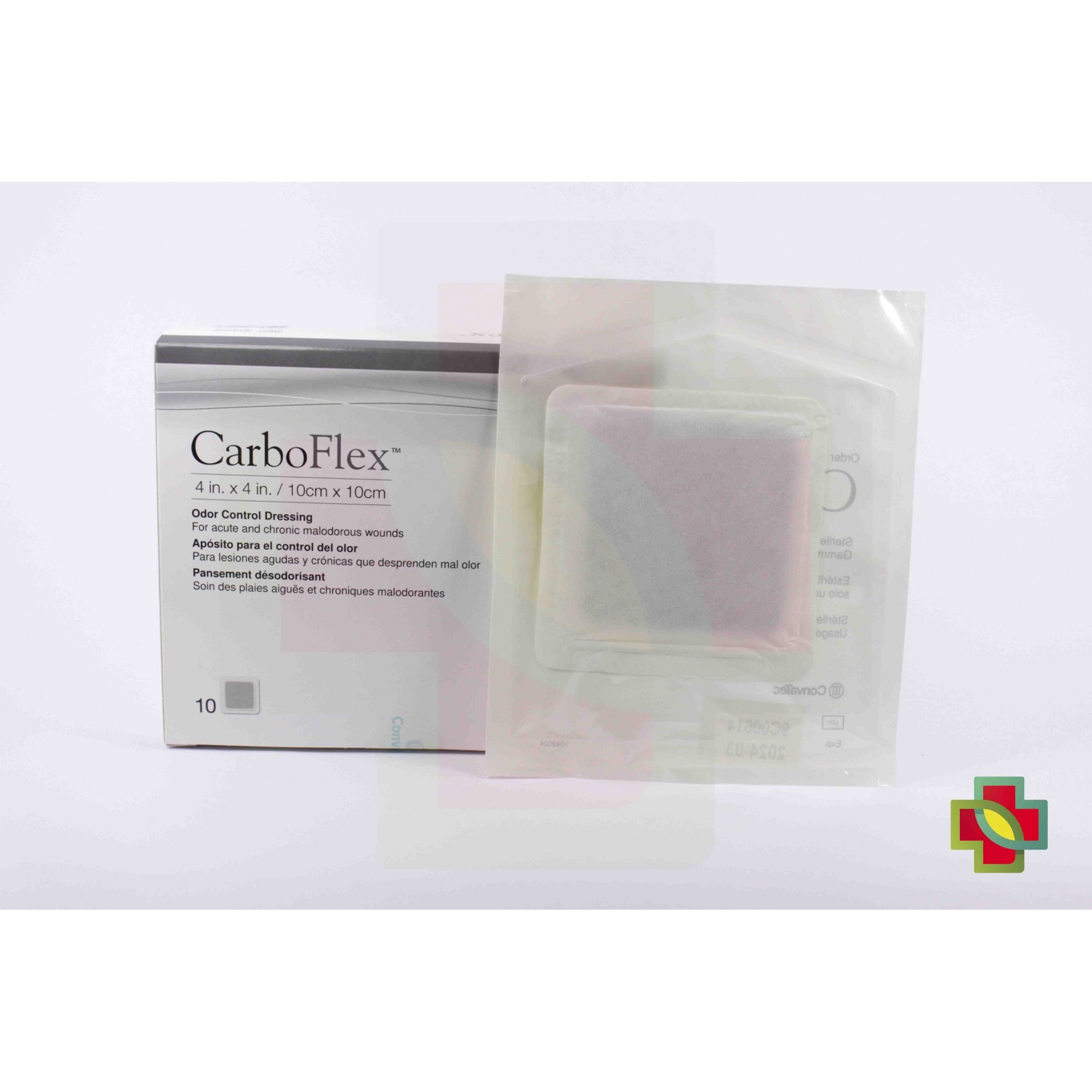 CURATIVO CARBOFLEX 10CM X 10CM (10 UNDS) 403202 - CONVATEC
