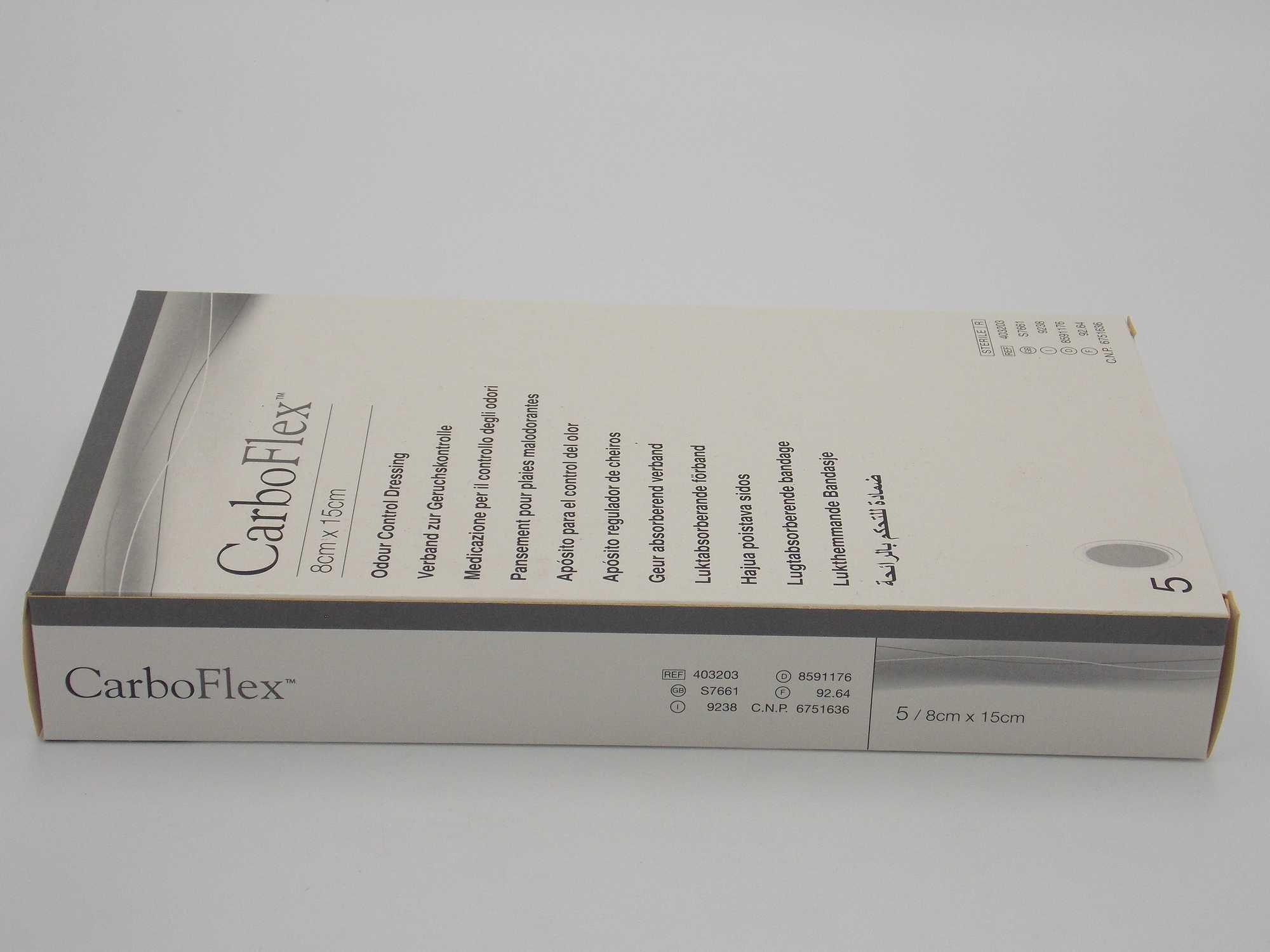 CURATIVO CARBOFLEX  8CM X 15CM OVAL 403203 (10 UNDS.) - CONVATEC