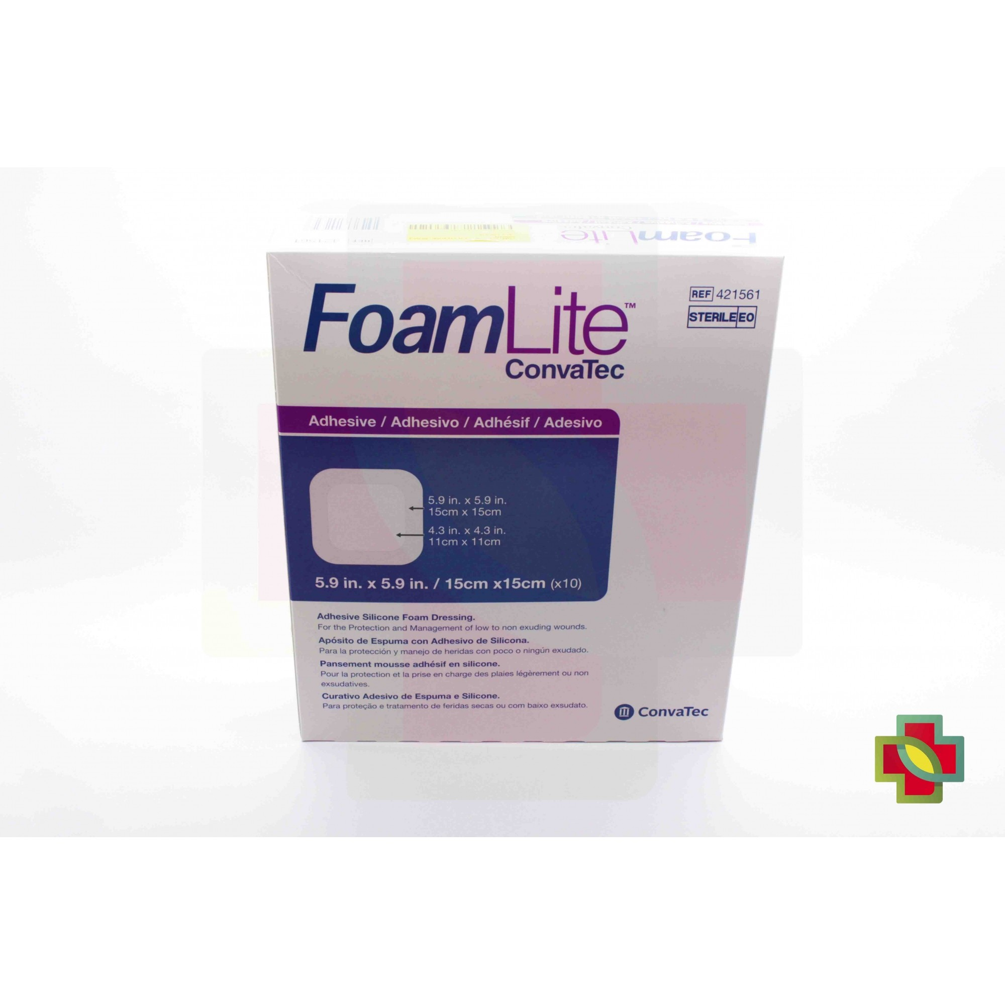 CURATIVO FOAM LITE 15 X 15 421561 / BR10419 CONVATEC