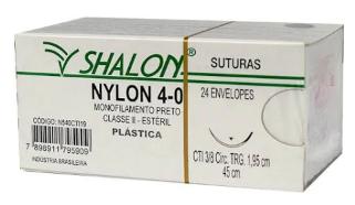 FIO NYLON 4-0 C/AG 3/8 1,9CM 45CM C/24 ENVELOPES - SHALON