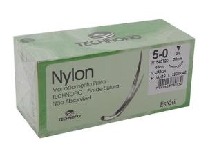 FIO NYLON 5-0 C/AG 3/8 3CM TRG 45CM (24 ENV) N550CTI30 SHALON