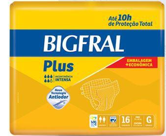 FRALDA GERIÁTRICA BIGFRAL PLUS EMBALAGEM ECONÔMICA TAM. G (PCT C/ 16 UNDS.) - BIGFRAL