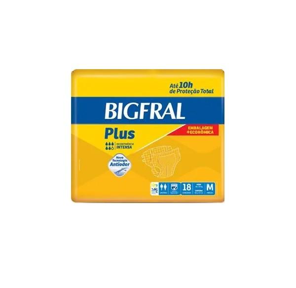 FRALDA GERIÁTRICA BIGFRAL PLUS EMBALAGEM ECONÔMICA TAM.M (PCT C/18) - BIGFRAL