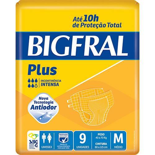 FRALDA GERIÁTRICA BIGFRAL PLUS (TAM. M - PCT C/ 9 UNDS) - BIGFRAL
