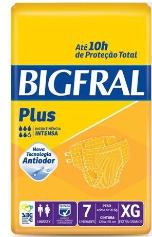 FRALDA GERIÁTRICA BIGFRAL PLUS (TAM. XG - PCT C/ 07 UNDS. ) - BIGFRAL