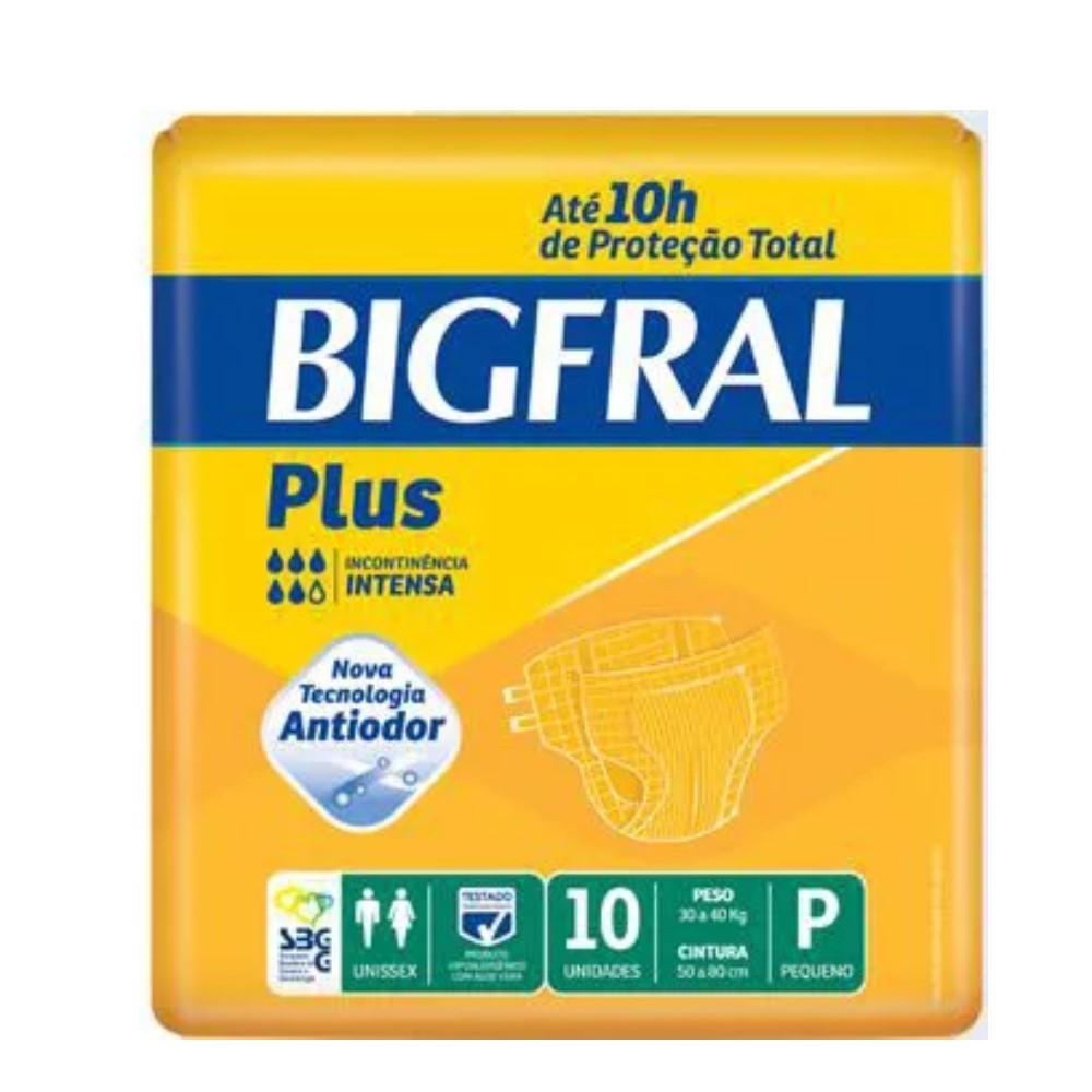 FRALDA GERIÁTRICA BIGFRAL PLUS TAMANHO P (C/10) - BIGFRAL