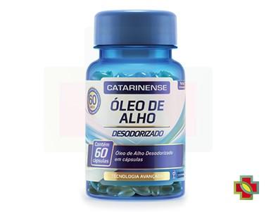 KIT C/ 3 UNDS ÓLEO DE ALHO DESODORIZADO 60 CAPS - CATARINENSE
