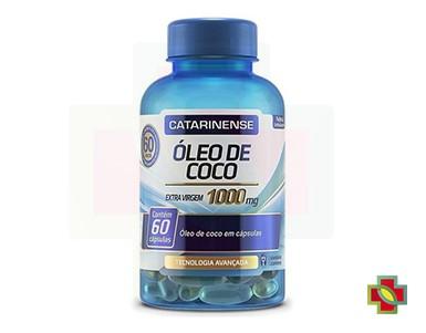 KIT C/ 3 UNDS ÓLEO DE COCO 100MG 60CAPS - CATARINENSE