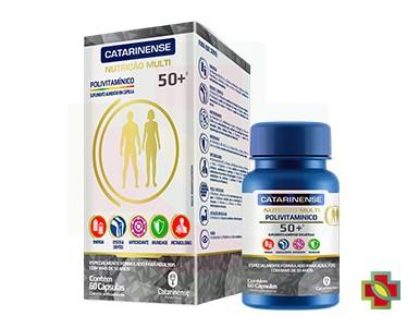 KIT C/ 3 UNDS POLIVITAMINICO 50+ 60CAPS - CATARINENSE