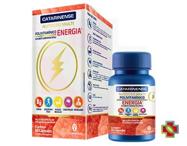 KIT C/ 3 UNDS POLIVITAMINICO ENERGIA 60CAPS - CATARINENSE