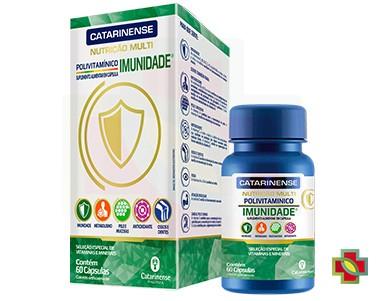 KIT C/ 3 UNDS POLIVITAMINICO IMUNIDADE 60CAPS - CATARINENSE
