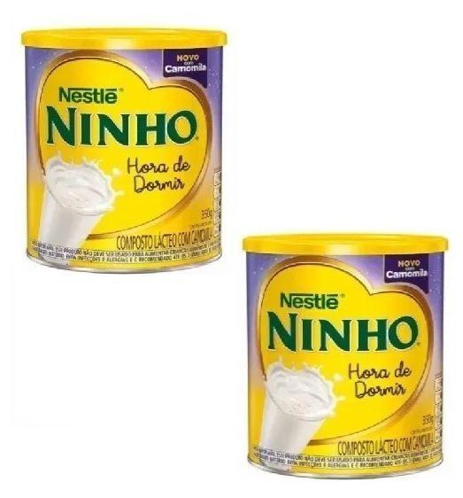 LEITE NINHO HORA DE DORMIR CAMOMILA 350GR (02 LATAS) - NESTLE