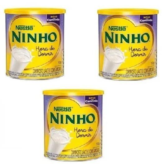 LEITE NINHO HORA DE DORMIR CAMOMILA 350GR (03 LATAS) - NESTLE