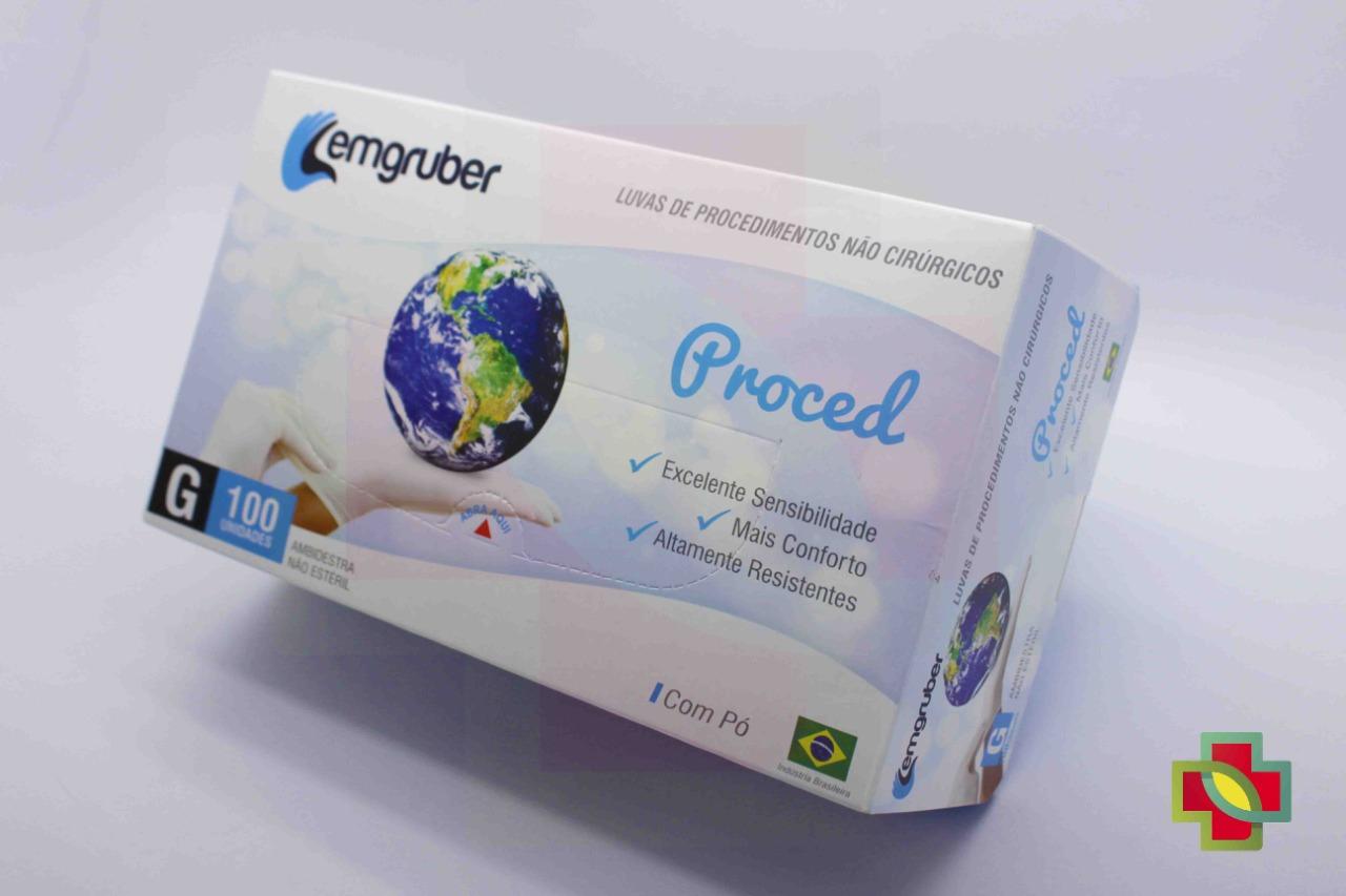 LUVA DE PROCEDIMENTO LATEX G (C/100 UNDS) - LEMGRUBER