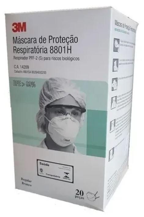 MÁSCARA DE PROTEÇÃO N95 PFF2 (20 UNDS) 8801H - 3M