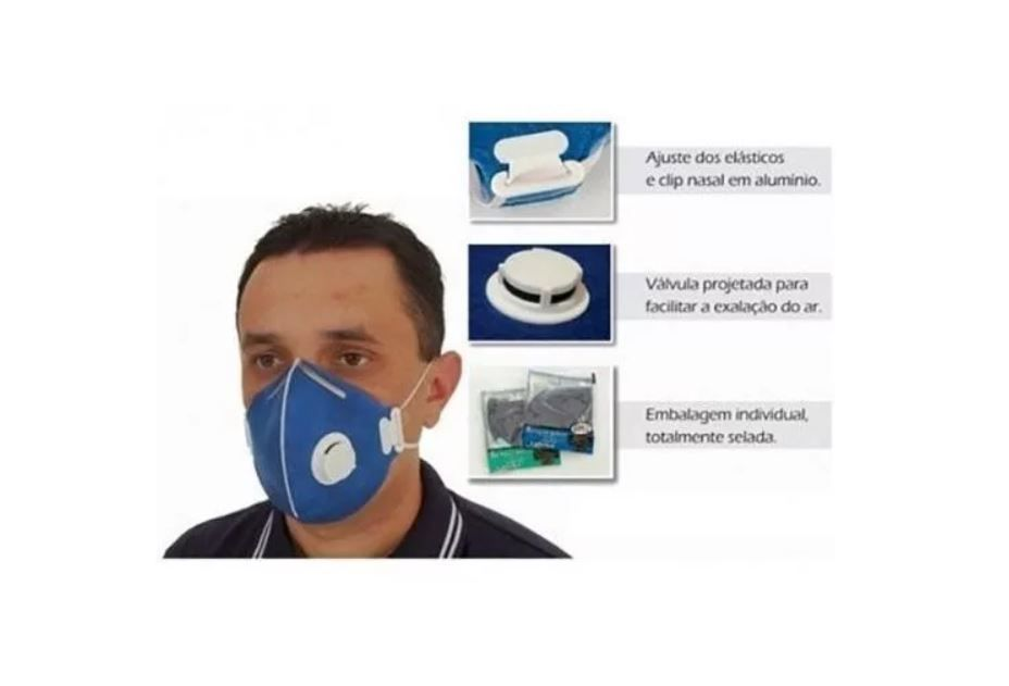 MÁSCARA DE PROTEÇÃO N95 PFF2 C/VÁLVULA - LUBEKA