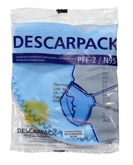 MÁSCARA DE PROTEÇÃO N95 PFF2-P2 (KIT C/50 UNDS) - DESCARPACK