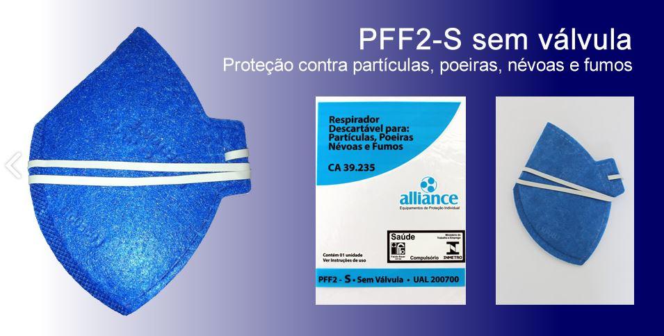 MÁSCARA DE PROTEÇÃO N95 PFF2-S AZUL DOBRÁVEL - A.L.L.I.A.N.C.E