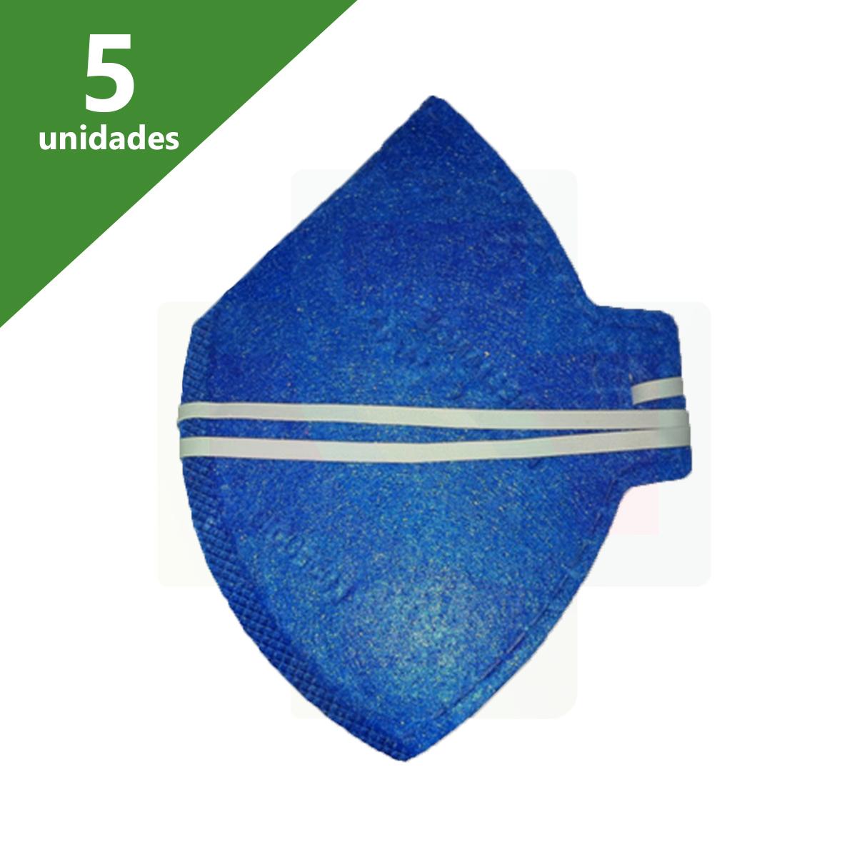 MÁSCARA DE PROTEÇÃO N95 PFF2-S DOB.AZUL KIT C/05 - A.L.L.I.A.N.C.E