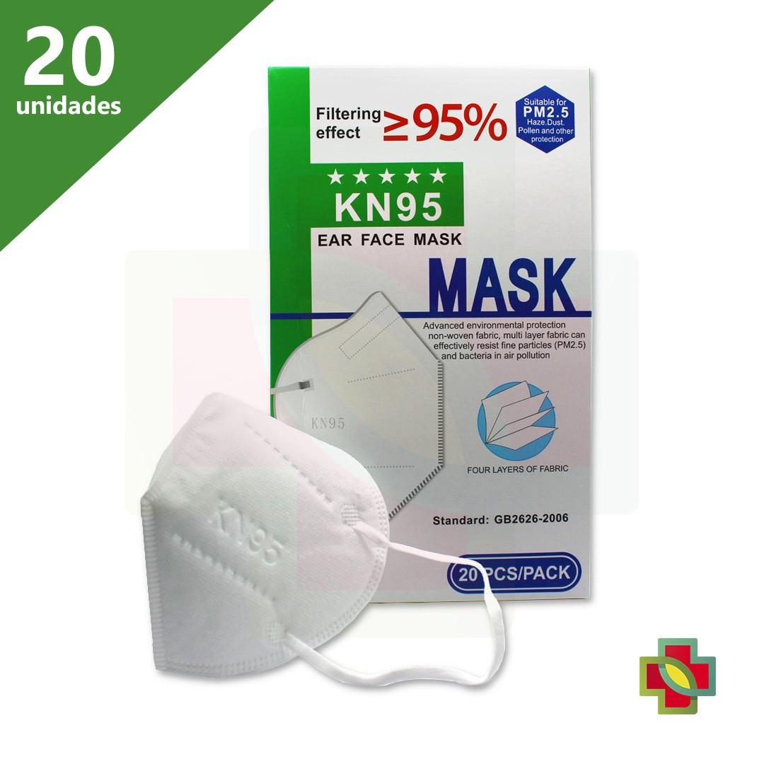 MÁSCARA DE PROTECAO PFF2 N95 KN95 (CX/20)