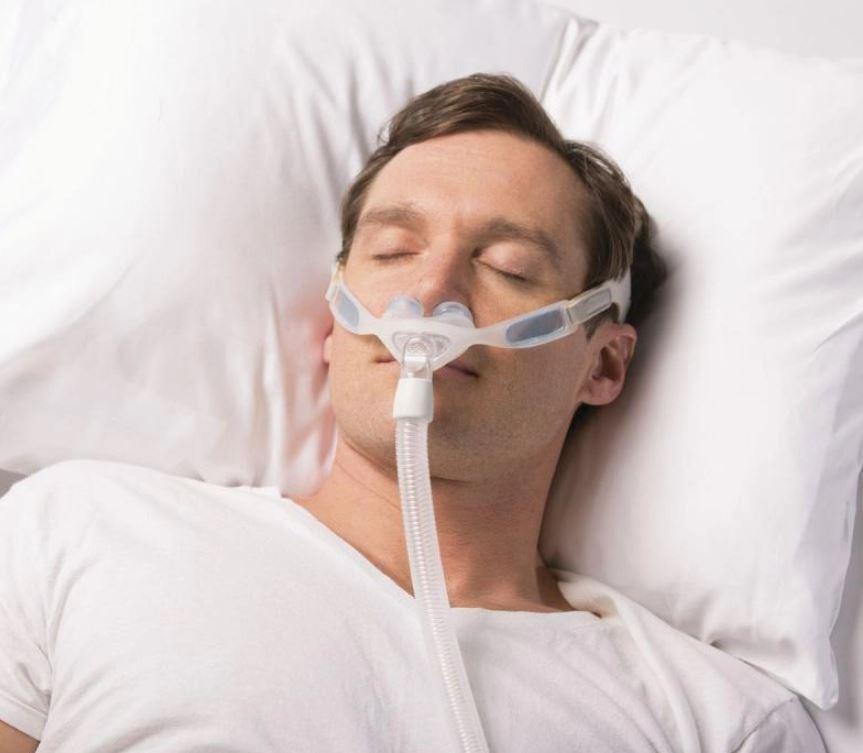 MÁSCARA PARA CPAP BIPAP NASAL NUANCE TECIDO - PHILIPS RESPIRONICS