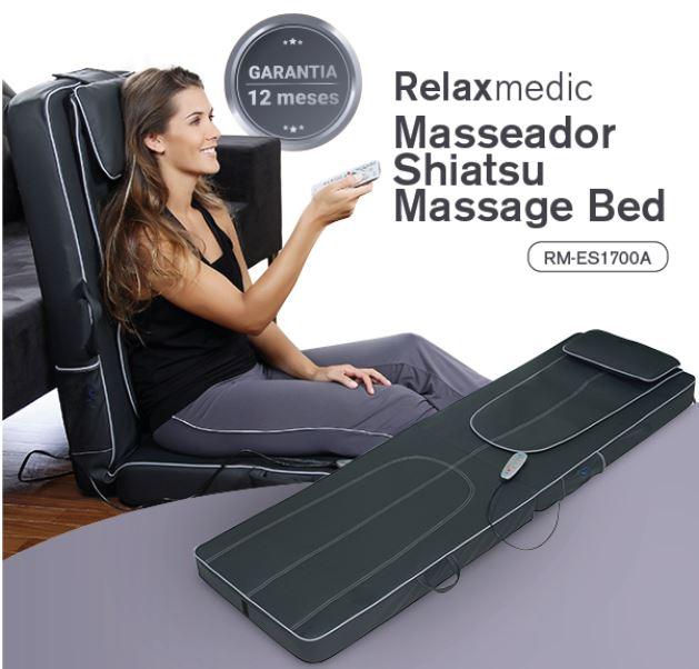 MASSAGEADOR SHIATSU MASSAGE BED RM-ES1700A - RELAXMEDIC