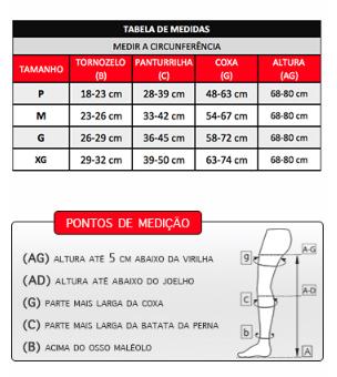 MEIA COXA COM CINTA ESQUERDA 4000 ULTRALINE 30-40MMHG ABERTA TAM. P (AGG) - VENOSAN
