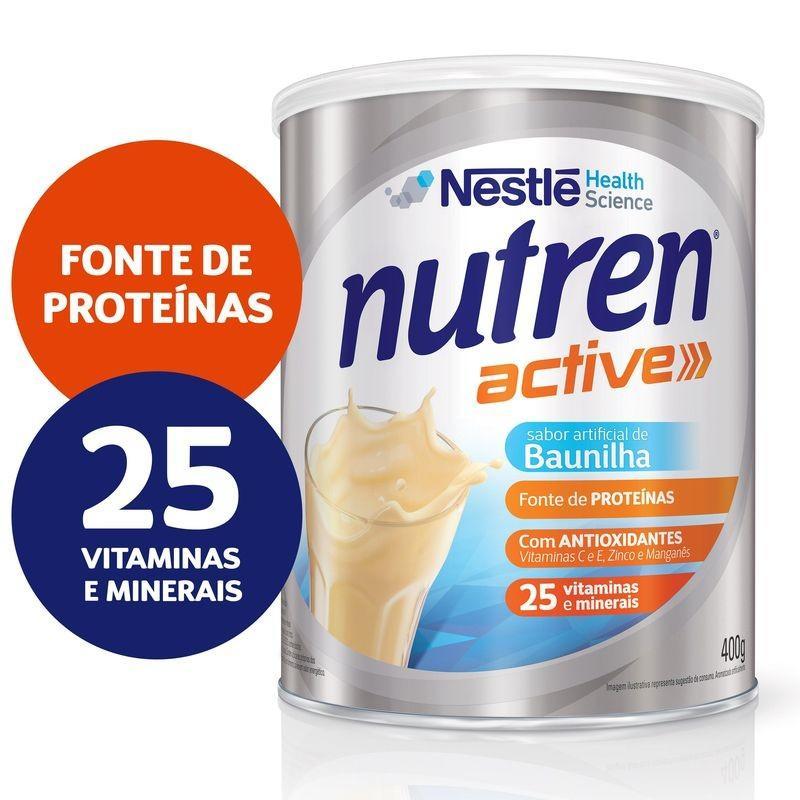 NUTREN ACTIVE PBIO1 BAUNIILHA 400G BR - NESTLE DIETAS