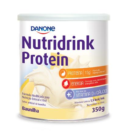 NUTRIDRINK PROTEIN PÓ BAUNILHA 350G (Kit C/03)