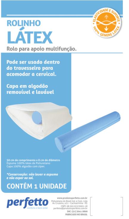 ROLINHO LÁTEX AZUL APOIO MULTIFUNÇÃO - PERFETTO