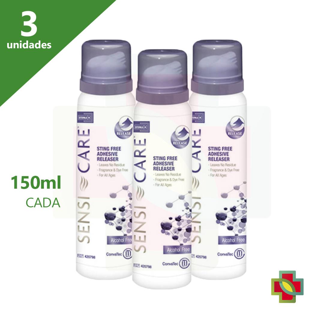 SENSI CARE SPRAY 150 ML REMOVEDOR 420798 (KIT C/03 UNDS) - CONVATEC