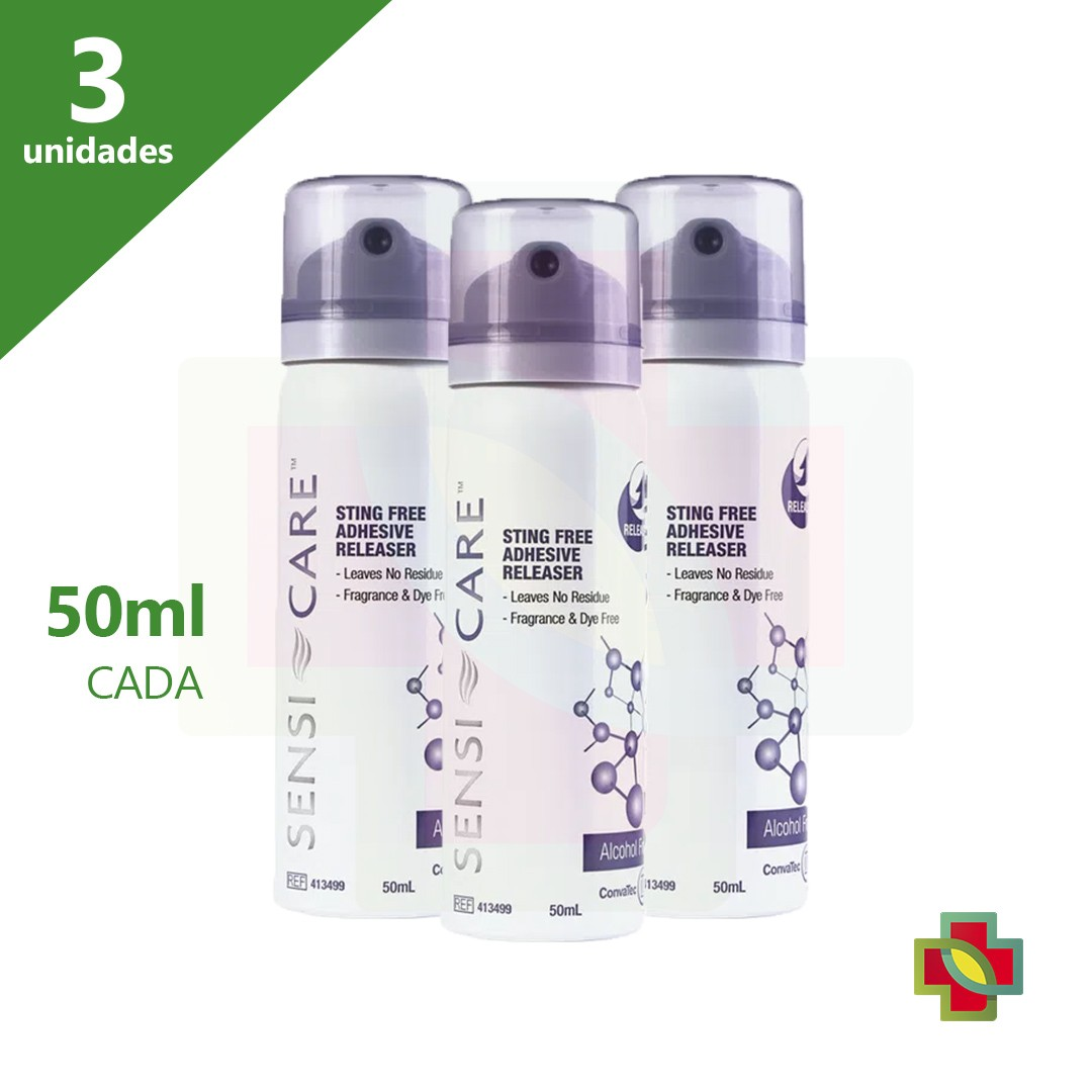 SENSI CARE SPRAY 50 ML REMOVEDOR 413499 (KIT C/03 UNDS) - CONVATEC
