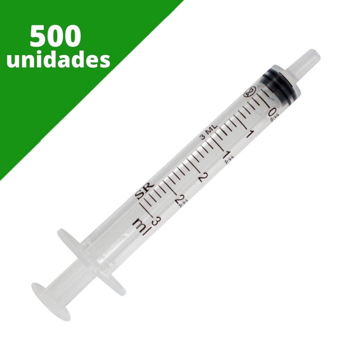 SERINGA DESCARTÁVEL 03 ML SEM AGULHA BICO SLIP (C/500) - SR