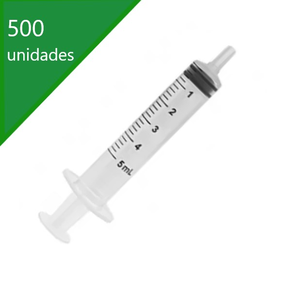 SERINGA DESCARTÁVEL 05 ML SEM AGULHA BICO SLIP (C/500) - SR