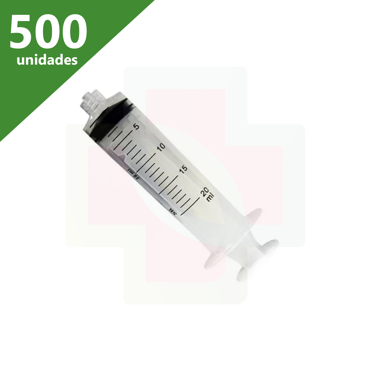 SERINGA DESCARTÁVEL 20 ML SEM AGULHA LUER LOCK (C/500 UNDS) - SR