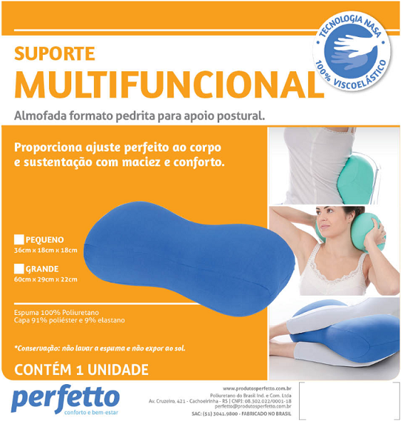 SUPORTE MULTIFUNCIONAL PEDRITA GRANDE GRAFITE - PERFETTO