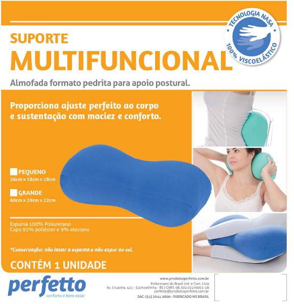 SUPORTE MULTIFUNCIONAL PEDRITA GRANDE PRETO - PERFETTO