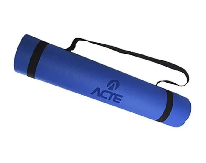 TAPETE EXERCICIOS YOGA MAT AZUL ROYAL EM EVA T11NA - ACTE SPORTS