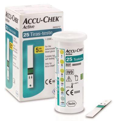 TIRAS DE GLICEMIA ACTIVE (CX C/25) - ROCHE