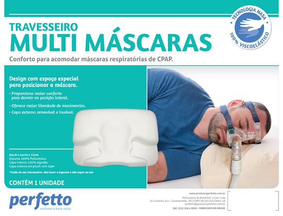 TRAVESSEIRO CPAP VISCO ELÁSTICO MULTI MÁSCARAS - PERFETTO