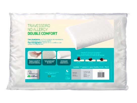 TRAVESSEIRO NO ALLERGY DOUBLE COMFORT - FIBRASCA