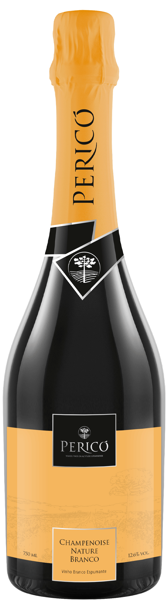 Cave Pericó - Champenoise Nature branco 2019 750 ml.