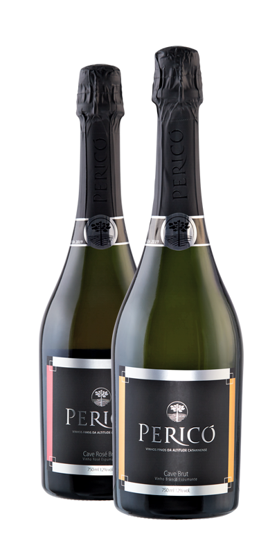 Kit 2 Gfs. Cave Branco e Rosé brut - 750 ml.