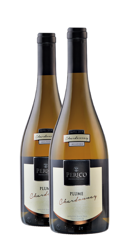 Kit 2 Gfs. Plume Chardonnay 2019 - 750 ml.