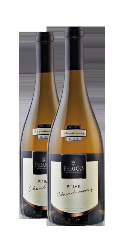 Kit 2 Gfs. Plume Chardonnay 2020 - 750 ml.